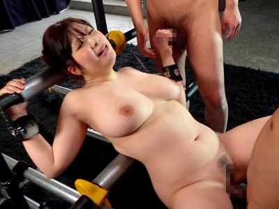 七草ちとせ 23歳 垂れ爆乳美女 オーガズム地獄に落とす!『豊乳OL固定肉便器』